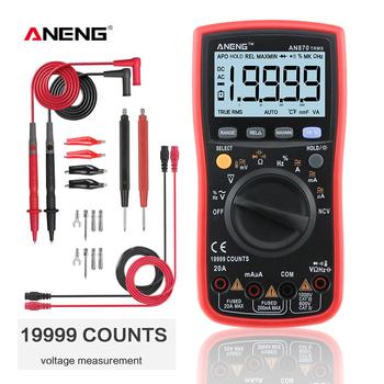 ANENG 870 red cyfrowy multimetr 19999 liczy podświetlenie AC DC amperomierz woltomierz Ohm aligator klip kabel mostkujący test ołowiu tanie i dobre opinie Elektryczne 600uA 6000uA 60mA 600mA 10A 600mV 6V 60V 600V 1000V 600 6k 60k 600k 6M 60M Double integral A D converter
