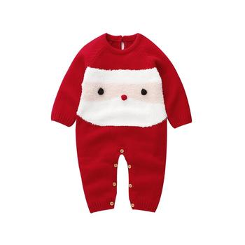 0-24M High quality New Fashion Christmas Toddler Baby Girl Boys Wool Knit Romper One-Piece Jumpsuit Warm Winter Outfits Clothes baby girl bodysuits winter warm newborn boys one piece jumpsuits cute rabbit knit long sleeve body suits with legs sunsuit 0 24m