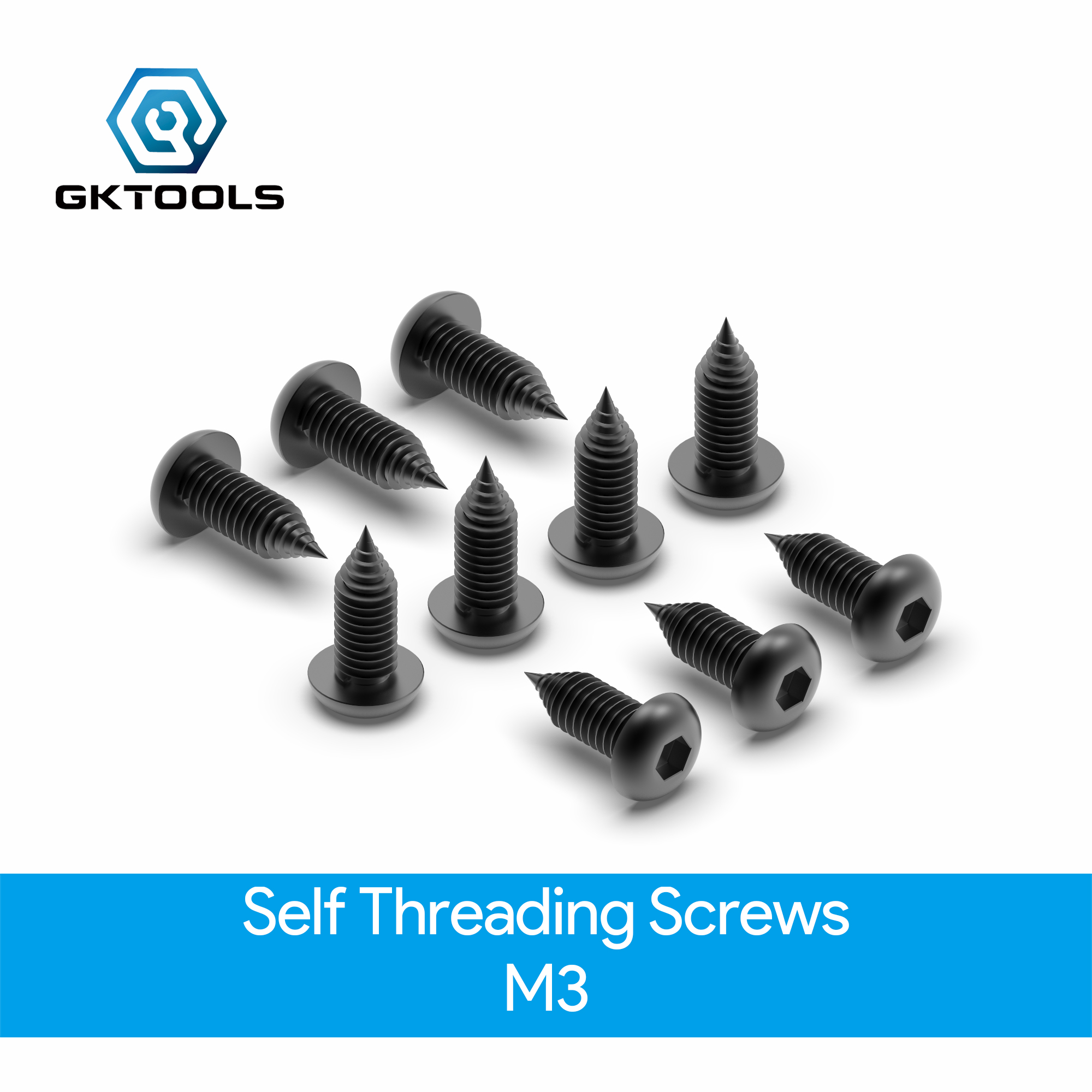 OpenBuilds Self Threading Screws - M3 (10 Pack)