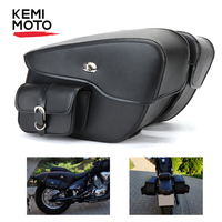 Waterproof Cruiser Motorcycle Saddlebag Leather Side Luggage Bag For Touring For Boulevard C50t For Sportster XL883 XL1200