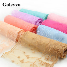 1Meter Colorful Crochet Gauze Lace Trims Ribbon Colthing Curtain DIY Sewing Crafts Charms