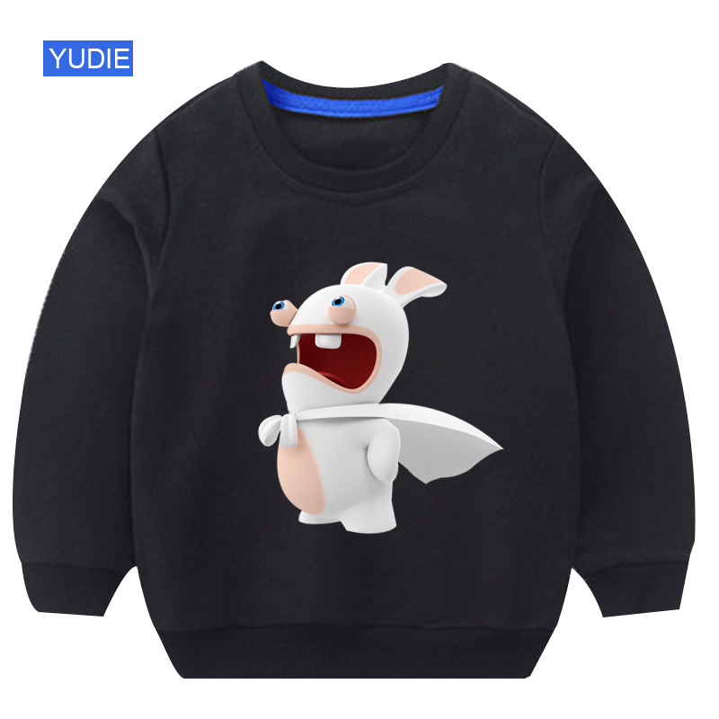 Sweatshirts Girl Cartoon Boy Rabbit Autumn 8T White Old Cotton 3-12years Funny Round-Neck