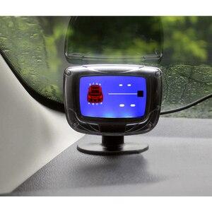 Image 2 - ユニバーサル車の自動車の led 駐車センサーシステム 4 センサー車のバックアップデュアル cpu モニターシステムとステップアップアラーム lcd ディスプレイ