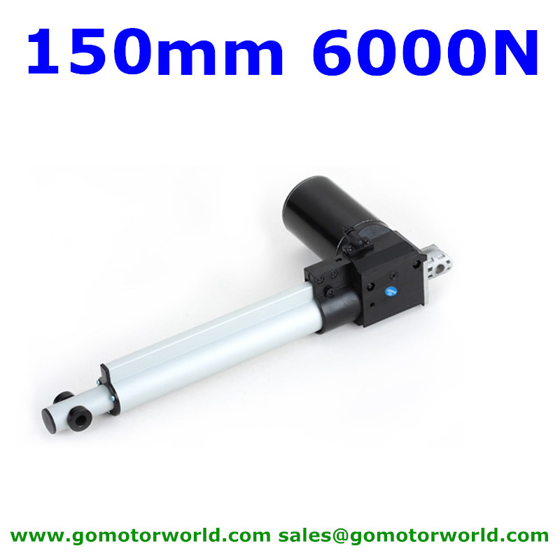 150mm 6inch stroke 6000N 600KG 1320LBS load force 42mm/s speed 12V 24VDC heavy duty linear actuator manufacturer