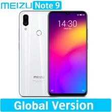 متوفر الإصدار العالمي لـ meizu Note 9 ذاكرة وصول عشوائي 4 جيجابايت مساحة تخزين 64/128 جيجابايت كاميرا بدقة 48.0 ميجابكسل ومعالج سناب دراجون 675 ومعالج ثماني النوى وشاشة مقاس 6.2 بوصات وبطارية 2244 × 1080 بكسل وشاشة فائقة الوضوح