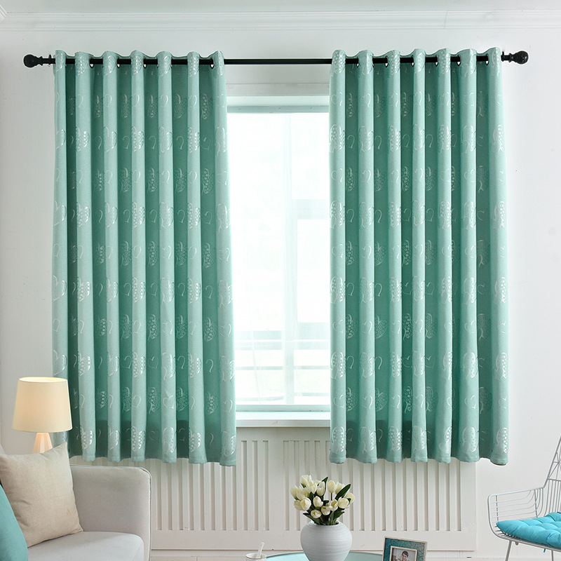 blackout silver heart jacquard fabric curtains for living room bay window small window short curtain kitchen drapes pc033 5