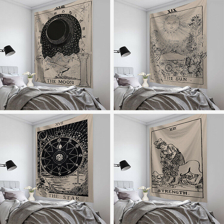 Tapestry Wall Hanging Polyester Tarot Card Pattern Blanket Tapestry Home Decor