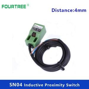 5Pcs Metal Iron Type Detection Sensor SN04-N/P Proximity Switch 4mm Sensing Cube Shell Inductive Screen LED NPN PNP NC NO