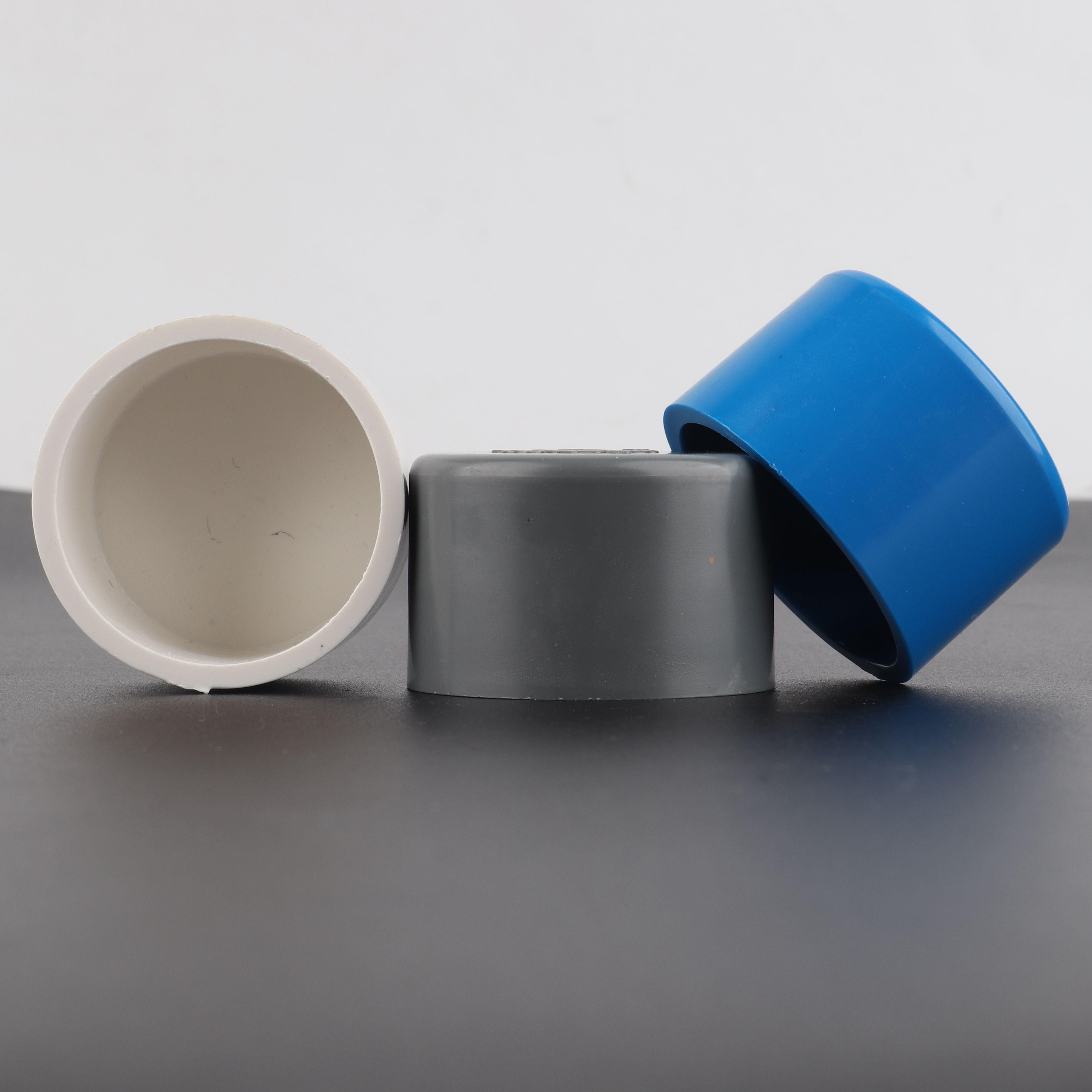 2 pces 20 a 90mm pvc tubulação plug alta qualidade plástico ferramentas de parada água aquário tubo tampa de extremidade jardim irrigação conector da tubulação de água