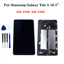 цена на 10.1SM T580 LCD For Samsung Galaxy Tab A  SM-T580 Screen SM-T585 LCD Matrix Touch Display T585 Digitizer Assembly Replacement