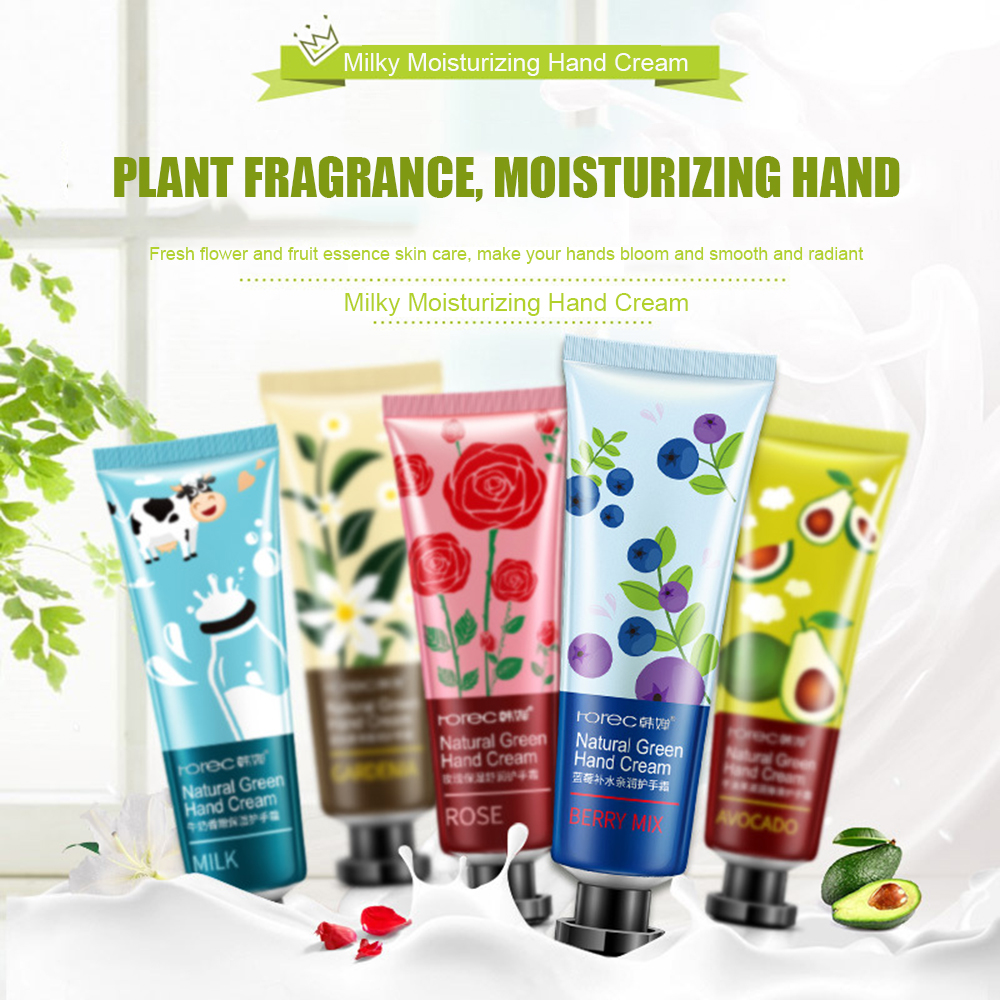 New Upgrade Green Plant Hand Cream 30g Fragrance Moisturizing Anti-Aging Whitening Hand Cream Soft, Dry And Smooth Hand Care