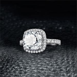 Image 3 - JewelryPalace 3ct CZ Halo אירוסין טבעת 925 טבעות כסף סטרלינג לנשים יום נישואים טבעת חתונת טבעות כסף 925 תכשיטים
