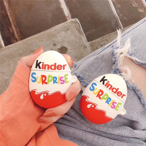 3D Funnly Cute Chocolate Kinder Joy SURPRISEW Candy Food silicone Bluetooth Earphon case for Apple Airpods 1 2 protective cover(China)