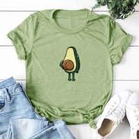 Frauen Graphic T shirts Fashion T-shirts 2019 Polyester Lustige Drucken Avocado frosch Tees Kurzarm T-shirts Mädchen Geschenk Tops
