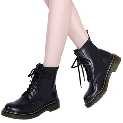 Martin Women Boots Dr boots High quality split Leather shoes Motorcycle Autumn Winter Women Boots size 34-46