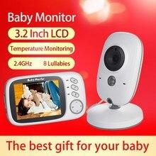 Беспроводная видеоняня, 3,2 дюйма, цветной ЖК-дисплей, камера наблюдения за ребенком, ночное видение, 2 канала, 8 колыбельных, датчик температу...