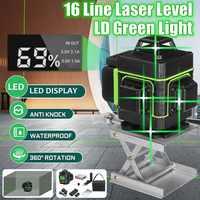 16 linee di Livello del Laser 3D Self-Leveling 360 Orizzontale E Verticale Croce Super Potente Laser Verde Fascio Linea di Misura strumenti