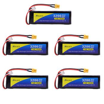 5 sztuk 7 4V 2S upgrade 3200mAh bateria Lipo dla MJX Bugs 3 B3 części zamienne do quadcoptera RC 2S 7 4 v upgrade 2700mah wtyczka bateria 35C tanie i dobre opinie heslegy Materiał kompozytowy Baterii Bateria litowa Baterie litowo-polimerowe AS SHOW Wartość 3 7 4V 3200MAH XT30 Plug