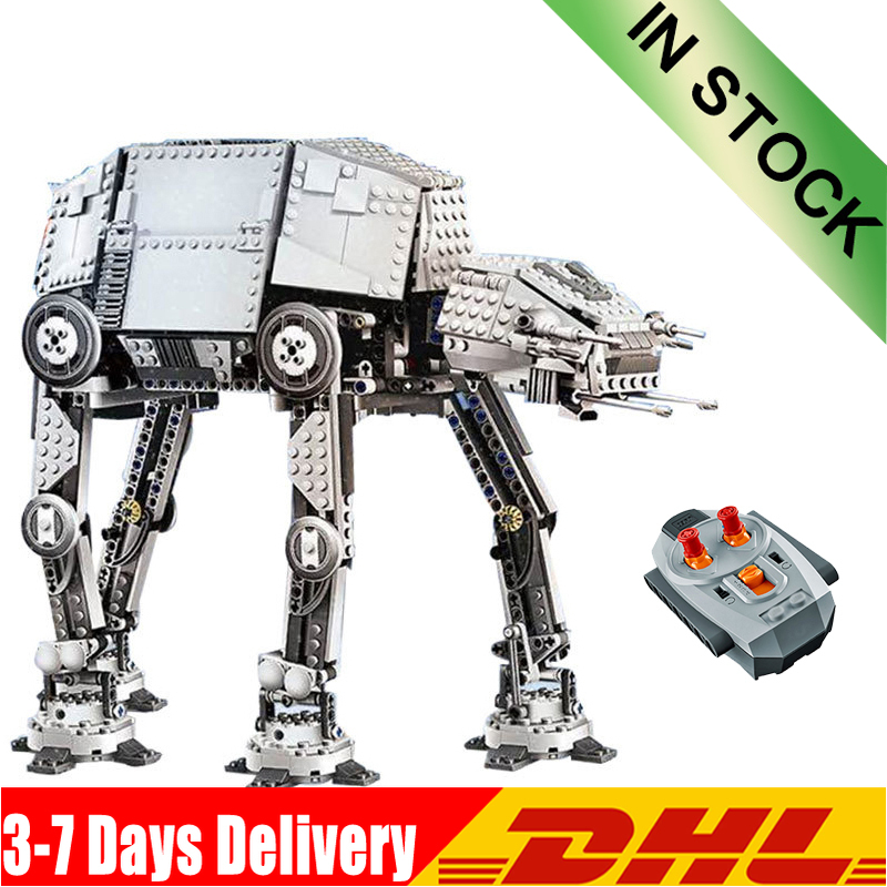 DHL 1167pcs Star Wars Series AT- AT Robot Electric Remote Control Building Blocks Toys Compatible  05050 10178