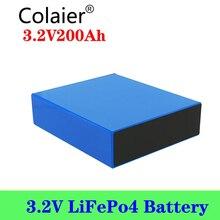 1 Chiếc Colaier 3.2V 200Ah Lifepo4 Pin 12V 200ah Pin Thích Hợp Năng Lượng Mặt Trời Cho Năng Lượng Cuộc Sống Lâu Dài 3500 Chu Kỳ EUUS