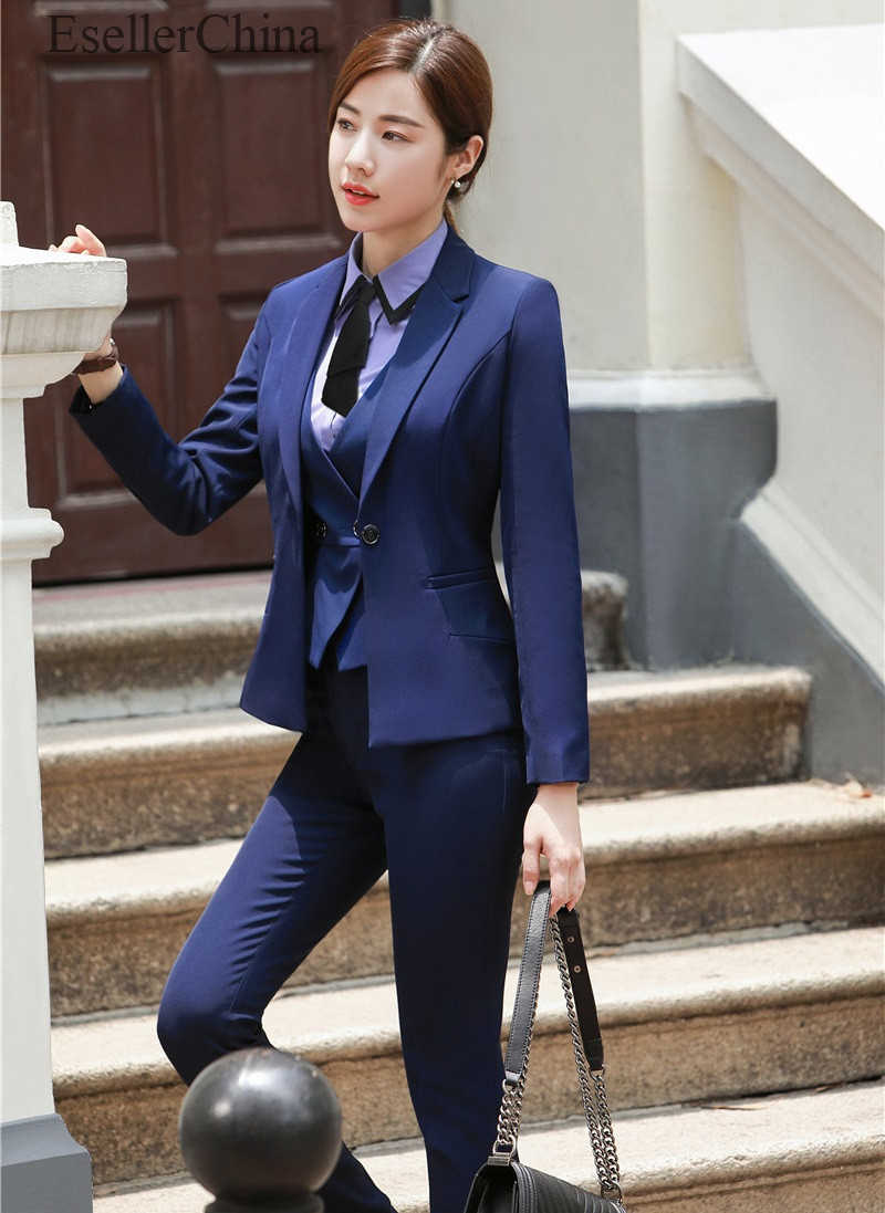 Womens Formal OL Elegant Slim Solid Suit Coat Jacket Vest Top Lapel Waistcoat
