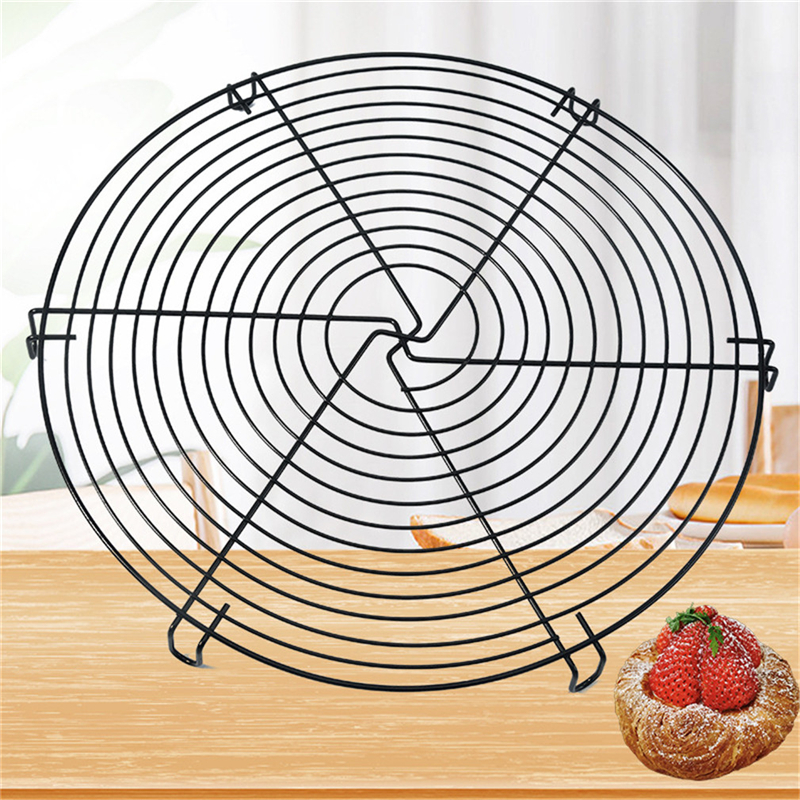 Nonstick Cake Cooling Rack Round Baking Stainless Steel Wire Cooling Grid Cookies Biscuits Bread Tray Bakeware Tools Metal