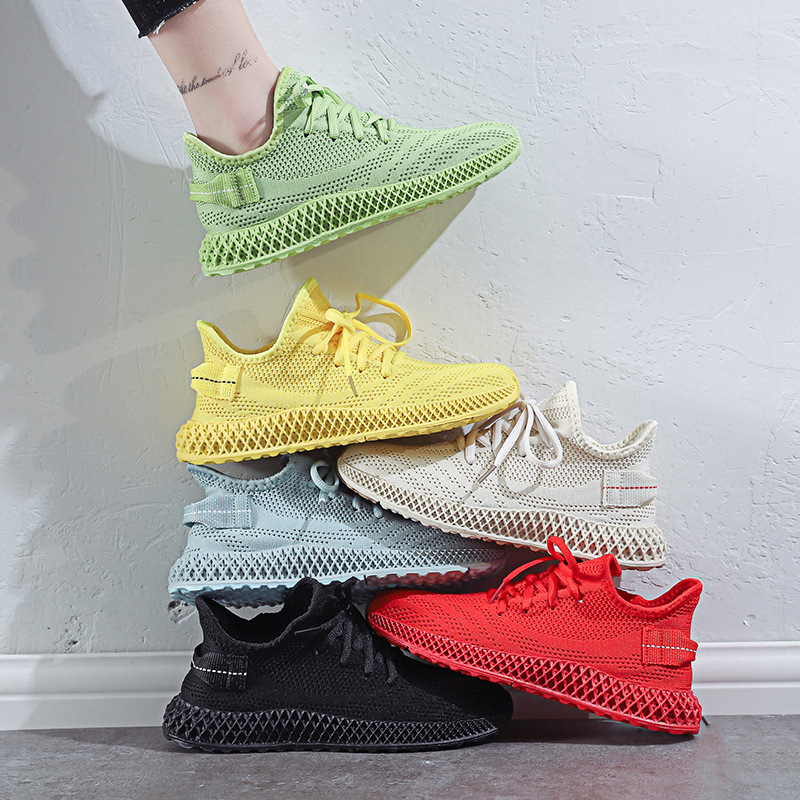 Women Sneakers 2020 Summer New Breathable Mesh Air Candy Colors Casual Sports Shoes Low Cut Trends Woman Running  Shoe 4h92