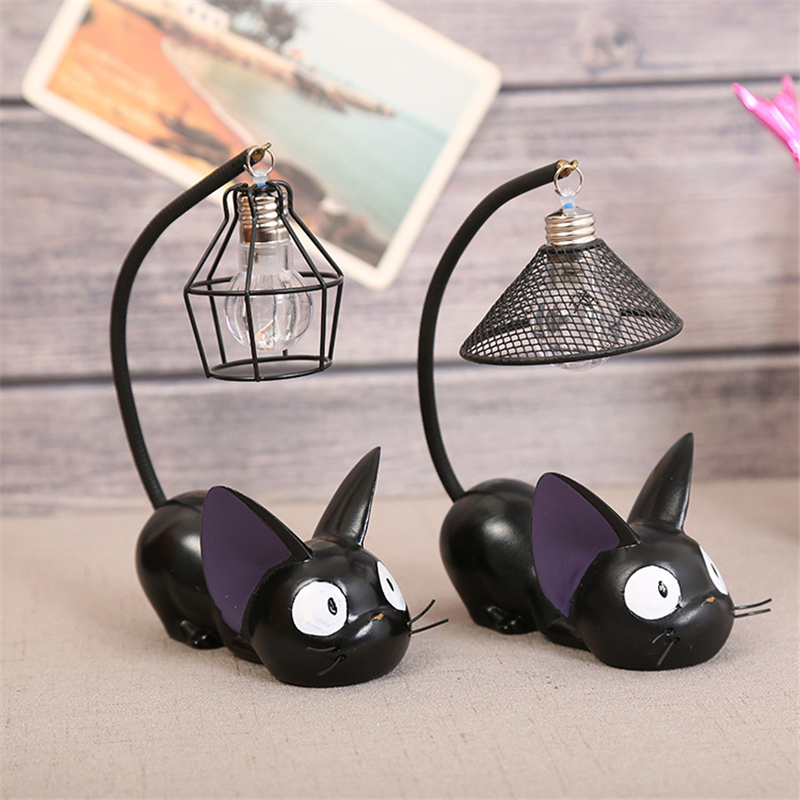 Hayao Miyazaki Magic Cat Night Light Baby Nursery Lamp Bedside Cartoon Animal LED Stand Light Birthday Crafts Kids Holiday Gifts
