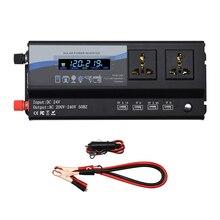 Onever 6000W 50Hz רכב ממיר כוח מהפך DC12V/24V כדי 220V עם צבעוני אור הסביבה 4 USB טוב פיזור חום