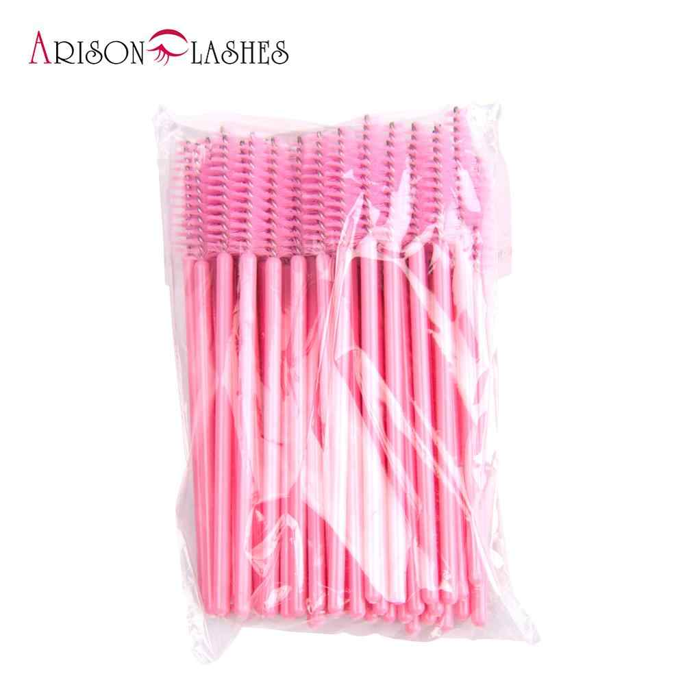 Wegwerp Silicone Gel Wimper Borstel Kam Mascara Wands Wimpers Extension Tool Professionele Beauty Make-Up Tool Voor Vrouwen