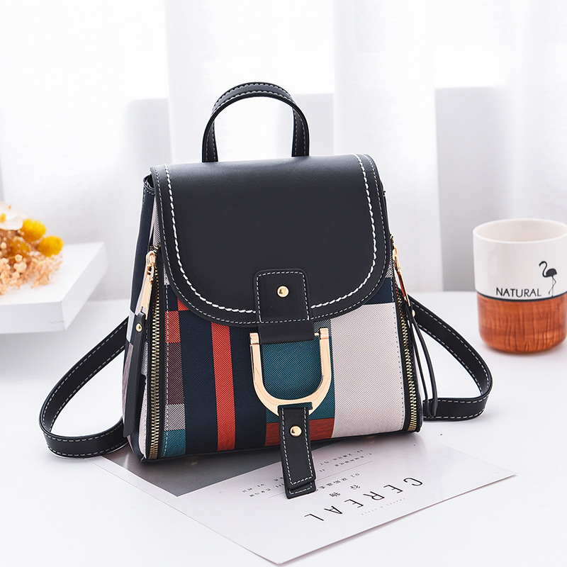 Women Backpack with Free Gift Multiple Using Women Grid Backpacks Female School Bag Girls Travel Bag Purse Free Shipping