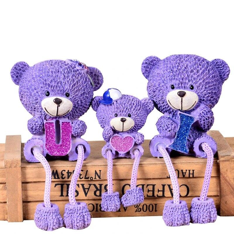 Purple Teddy Bear Ornament