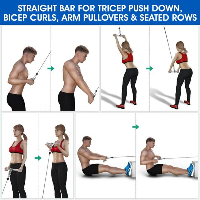 Fitness Pulling Bar Training Device Accessories Pull Down Shoulder Biceps Fitness Equipment 5