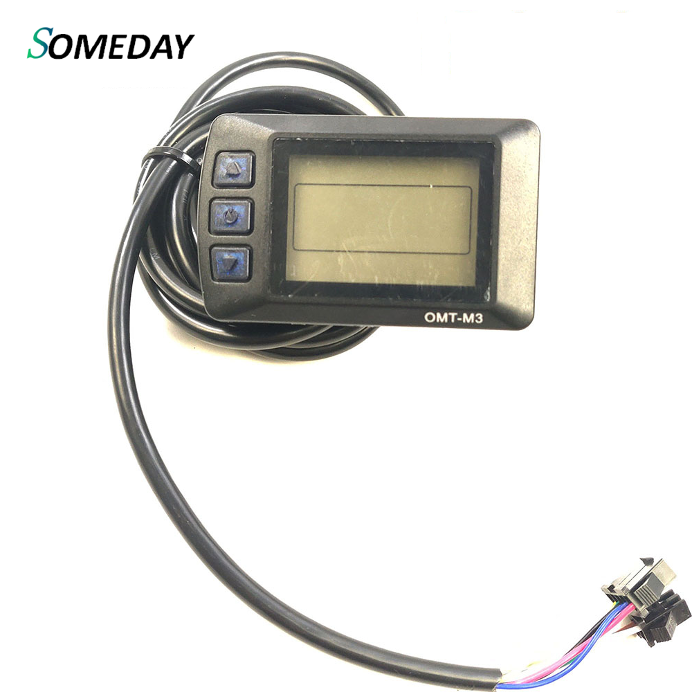 SOMEDAY OMT-M3 LCD Display Electric Bicycle Accessories For 24V36V48V Electric Bike Kit With Accessories Computer
