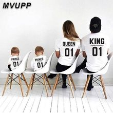 Одинаковые комплекты одежды для всей семьи футболка для папы, мамы, дочки и сына Одежда для маленьких мальчиков и девочек «Мама и я» платье королевы для мамы