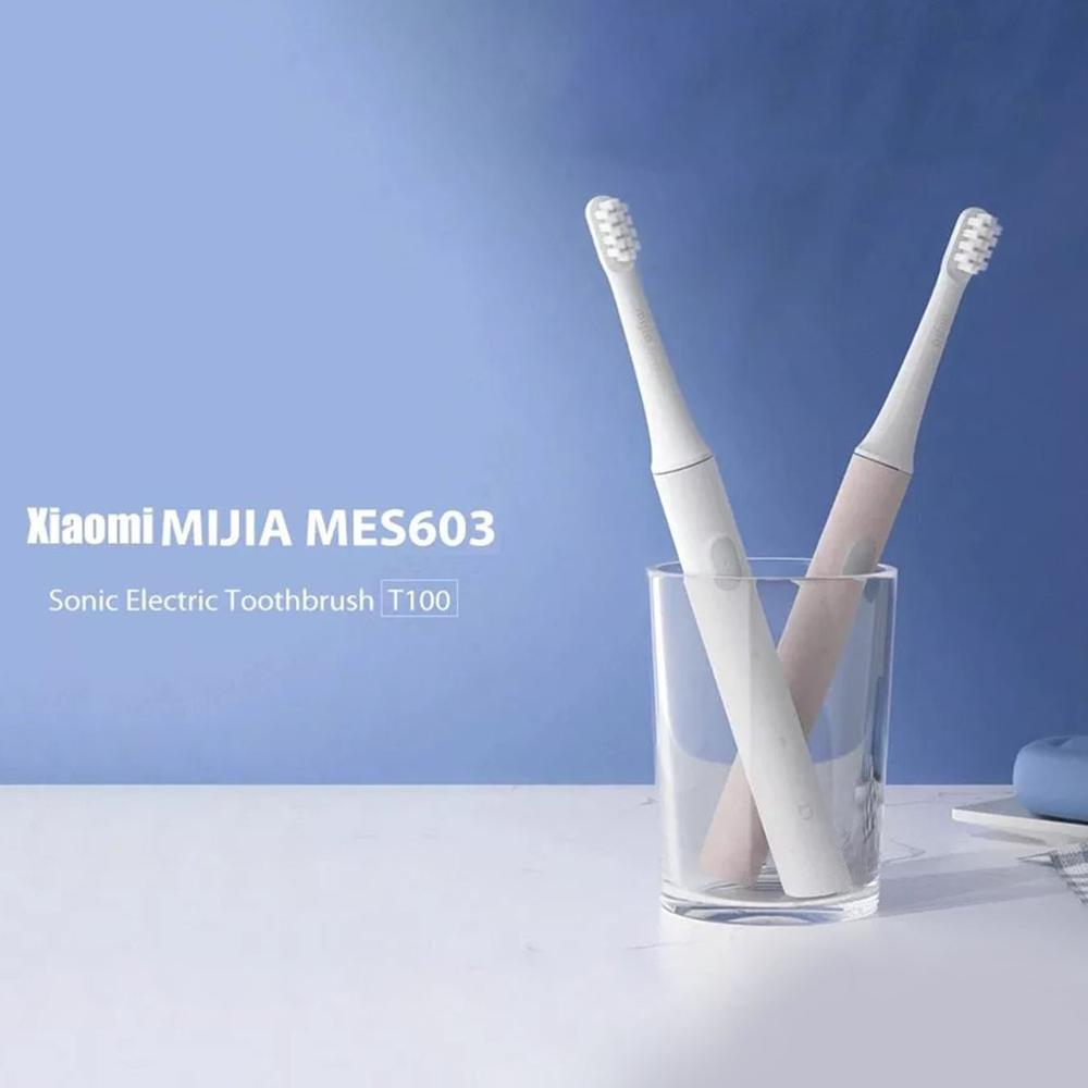 2020 In Stock Xiaomi Mijia T100 Sonic Electric Toothbrush Lightweight 46g Portable Sonic Wave Rechargeable Toothbrush Best gifts image