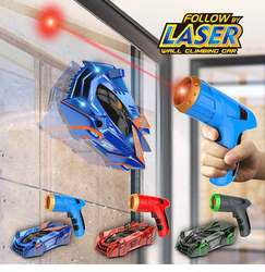 Dzieci zdalnie sterowany samochód zabawka powietrza Hogs Zero Gravity Laser Racer ściany samochodów wspinaczkowy, akcesoria do zdalnego sterowania wspinaczka samochód wyścigowy