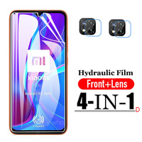 Película de proteção de tela em hidrogel 9999d, película de vidro temperado macia para xiaomi redmi 9c nfc redmi note 9 pro max 9s 8t 9 8 9a 9cnfc