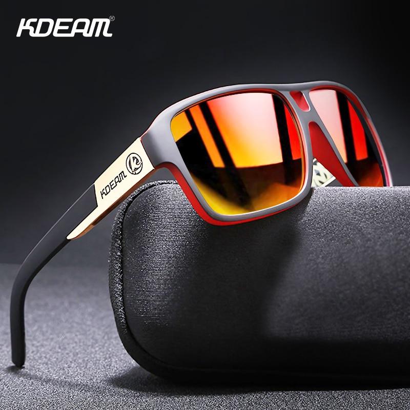 KDEAM Classic Fashion Men Polarized Sunglasses PC+Metal Frame Strengthen TAC Mirror Anti Glare Driving Sun Glasses UV400 K3|Men