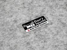 Наклейка на противокражную систему сигнализации, светоотражающая Предупреждение ниловая предупреждающая этикетка, наклейки на машину, ве...