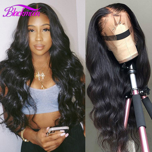 Brazilian Hair Body Wave Lace Front Human Hair Wigs For Women 13x4 Lace Frontal Wig 180 Density 4x4 Lace Closure Wig Blackmoon