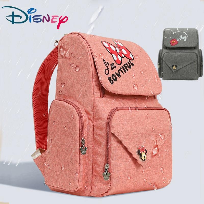 Disney Diaper Bag Bottle Feeding Insulation Mummy Bag Oxford Cloth Diaper Storage Bag Backpack Fashion Waterproof Large Capacity