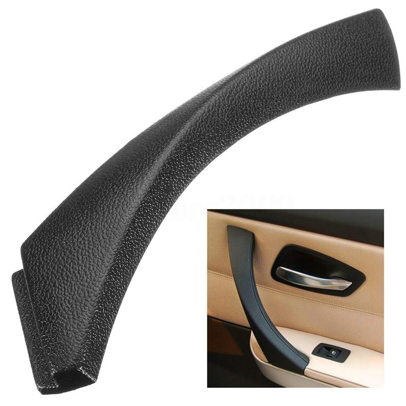 Right Side Inner Door Panel Handle Pull Outer Trim Cover for BMW 3-Series E90 E91 E92 E93 Black image