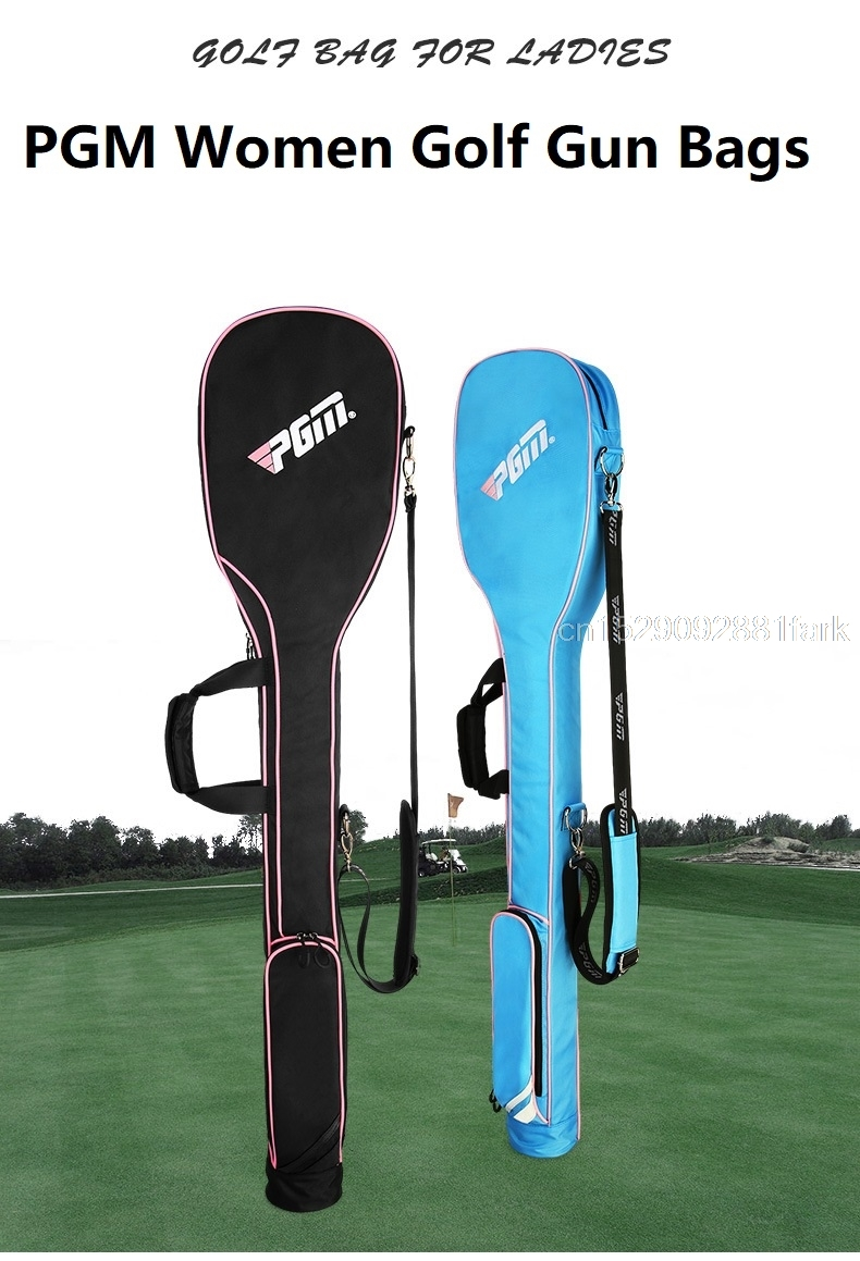 H30b6e06d50f94d59b2e57795e1bfb2c7c New Pgm Mini Golf Gun Bag Foldable Design Portable Gun Bag Hold 8-9 Clubs High Capacity Shoulder Club Golf Bags For Men Women