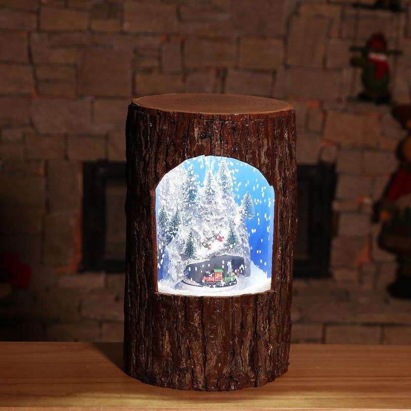 Рождественские украшения креативный круг Клык Чжэнь Шу Чжуан музыка снег маятник свет торговый центр, отель Домашний набор реквизит - 2