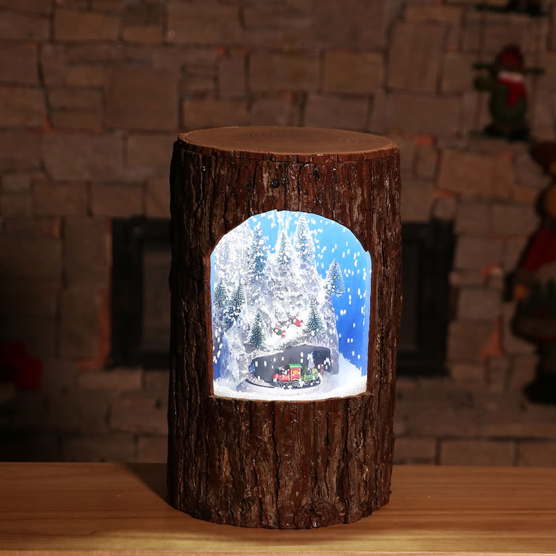 Christmas Decorations Creative Circle fang zhen shu zhuang Music Snow Pendulum Light Shopping Mall Hotel Home Set Props - 2