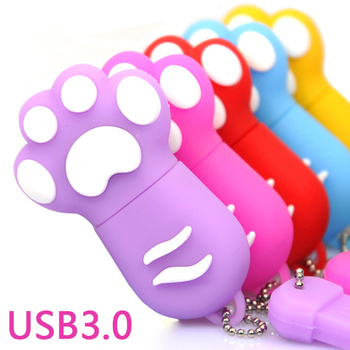 Gadgets Gift 100% RealCapacity Lovely Cat Claw USB 3.0 Flash Drive 128gb 64gb 32gb 16gb USB Memory Stick Pen Drive 2TB Pendriver