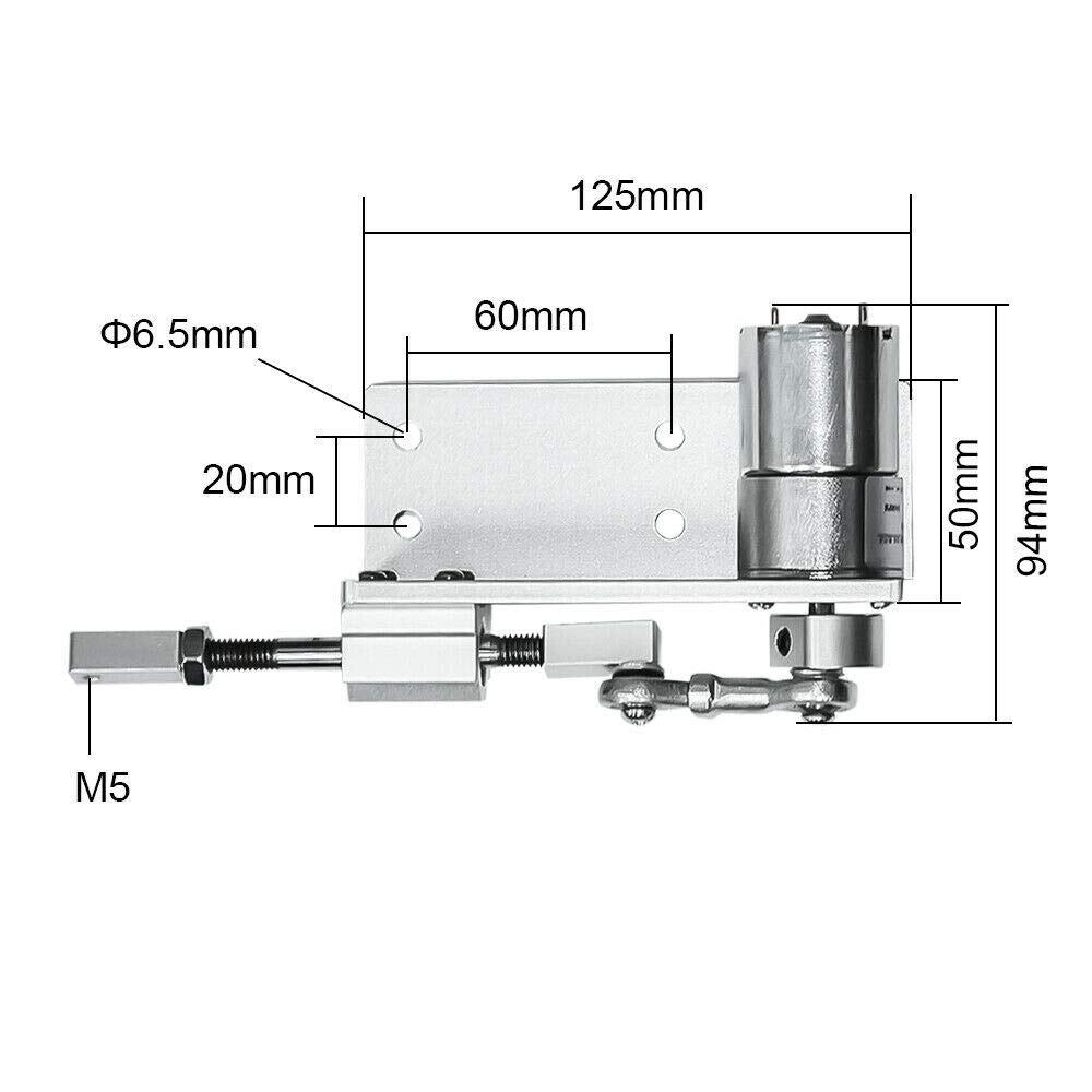 DIY Design DC 12V 24V Linear Actuator Reciprocating Gearbox Motor Stroke 12~20mm