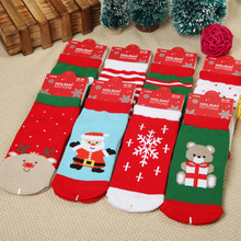 YOOAP 12 Pairs/lot Childrens Socks autumn and winter Christmas cartoon socks