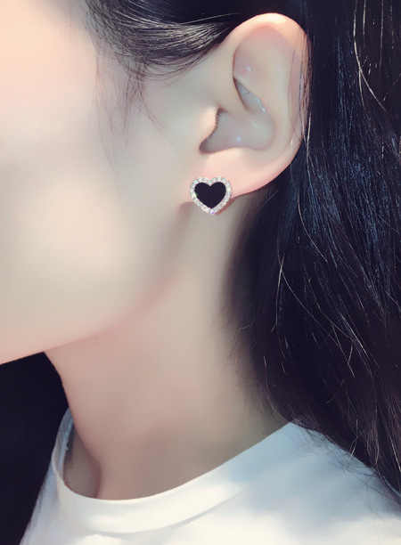 5 kleuren Zwart/Wit Emaille Koreaanse Stud Oorbellen Voor Vrouwen 2019 Fashion Sieraden Eenvoudige Vrouwelijke Oorbel Oorbellen Aretes De mujer